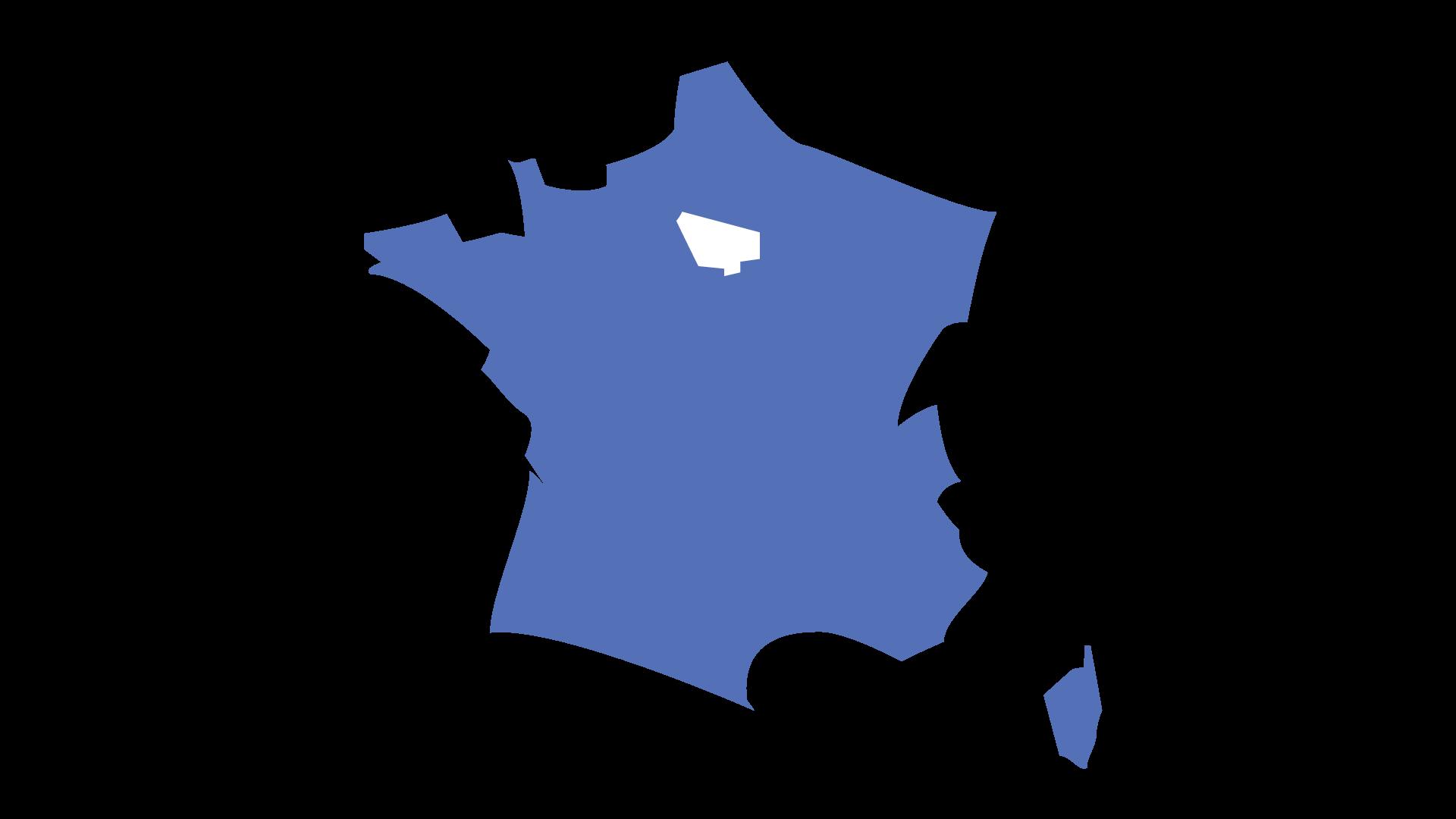 Carte de France localisation Brasserie La Ptite Sœur